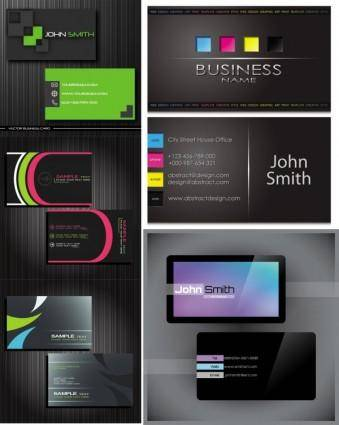 free vector Gorgeous simple business card templates vector