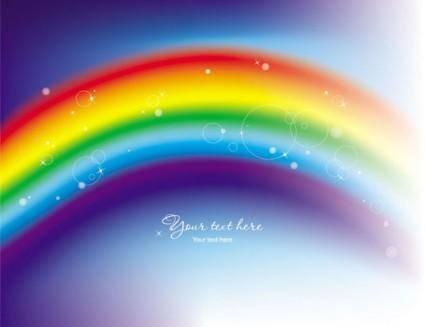free vector Beautiful rainbow symphony 02 vector