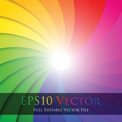 free vector Colorful swirl vector