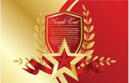 free vector Bookmarks red fivepointed star vector