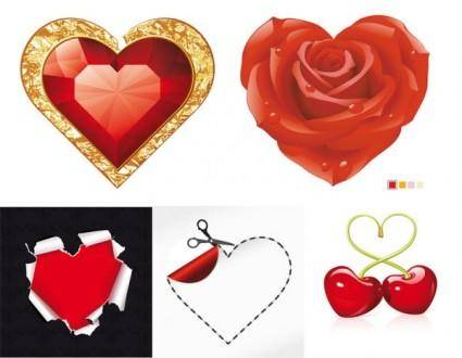 free vector Romantic red element vector