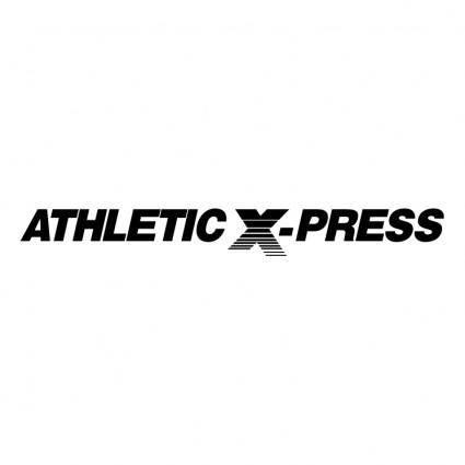 free vector Athletic x press