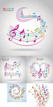 free vector Note vector dancing