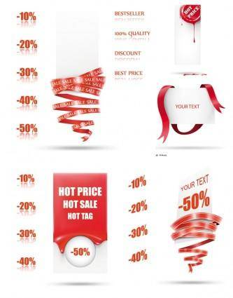 Beautiful supermarket discount card vector