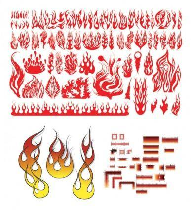 free vector Variety of practical fire totem clip art