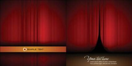 Vector beautiful curtains