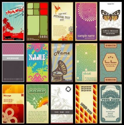 free vector Fashion cards vector