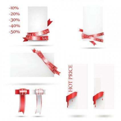 free vector Fine red line vector