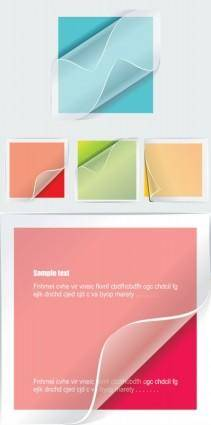 Transparent stickers vector
