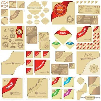 Sales related graphic elements vector