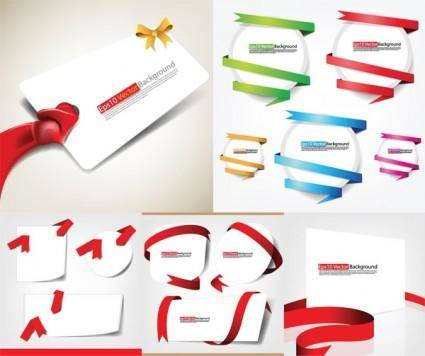 free vector Ribbons and card vector