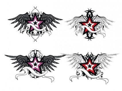 Star wings vector
