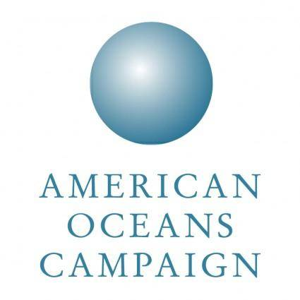 free vector American oceans campaign