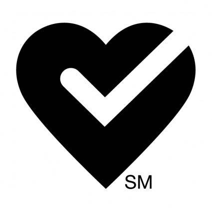 free vector American heart approved