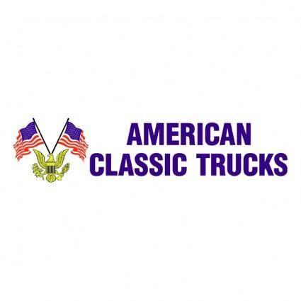 American classic trucks