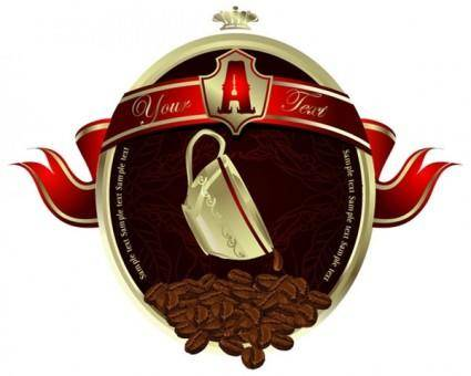 free vector European-style coffee poster vector