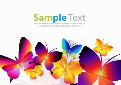 free vector Colorful Butterflies Vector Art