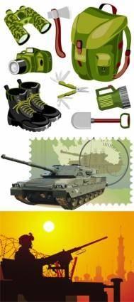 Military theme vector