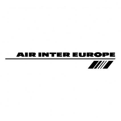 free vector Air inter europe