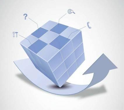 free vector Vector Magic Cube and Arrow Design