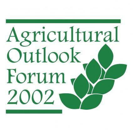 free vector Agricultural outlook forum