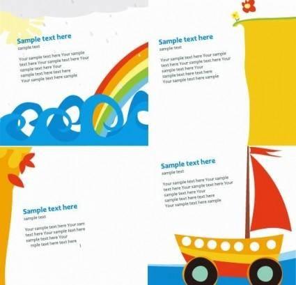free vector Cute Card Templates