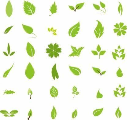 free vector Green Leaf Design Elements
