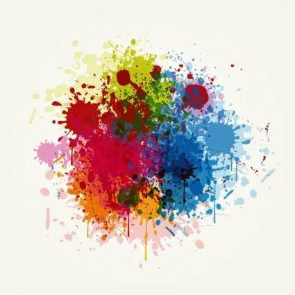 free vector Grunge Colorful Splashing Vector Illustration