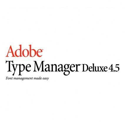 free vector Adobe type manager deluxe