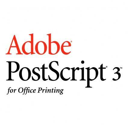 Adobe postscript 3 1