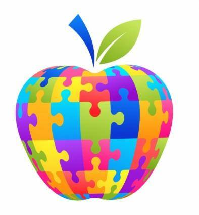 Apple Puzzle Vector Illustration