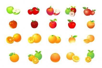 free vector Apple and Orange Vector Graphic Set