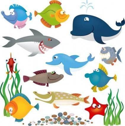 free vector Sea Animals Vector Set
