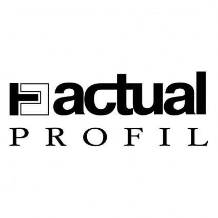 free vector Actual profil