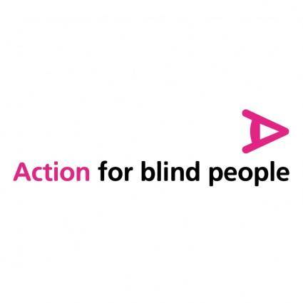 free vector Action for blind people