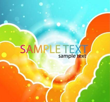 free vector Colorful Clouds Vector Illustration