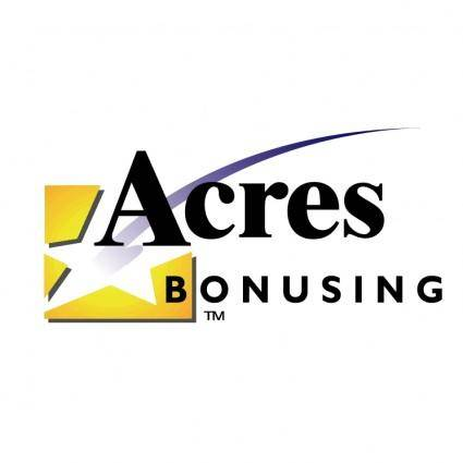 Acres bonusing