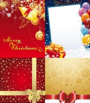 free vector Exquisite holiday ornaments vector