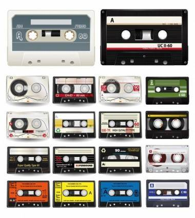 free vector Audio Cassettes Vector Collection