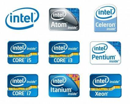 free vector Intel Chip Logos Vector
