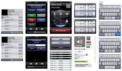 free vector IPhone UI Vector Elements