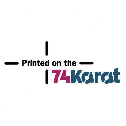 free vector 74 karat