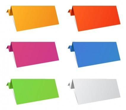 free vector Colorful Origami Paper Sheets