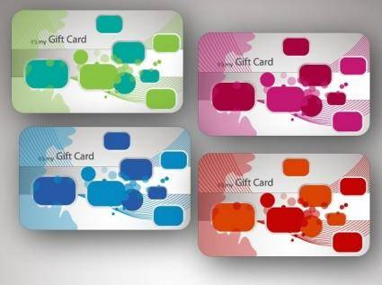 free vector Beautiful Gift Card Vector Illustrations