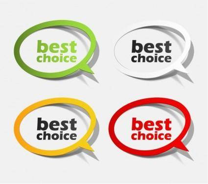 free vector Best Choice Sticker Collection