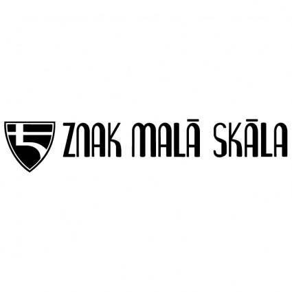 free vector Znak mala skala