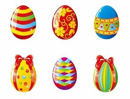 free vector Colorful Easter Eggs Vector Illustration