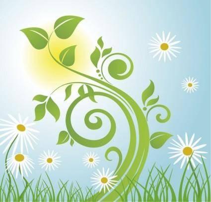 free vector Spring Tree Vector Illustration