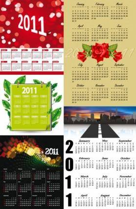 free vector Beautiful 2011 calendar template vector