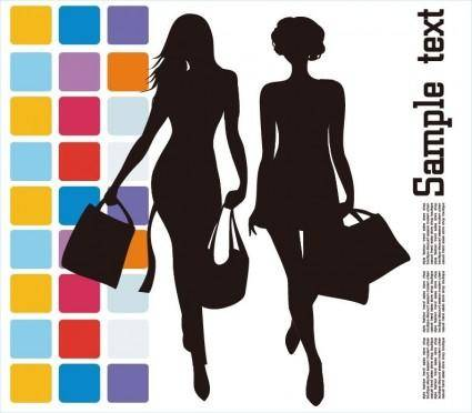 free vector Fashion Shopping Vector Illustration